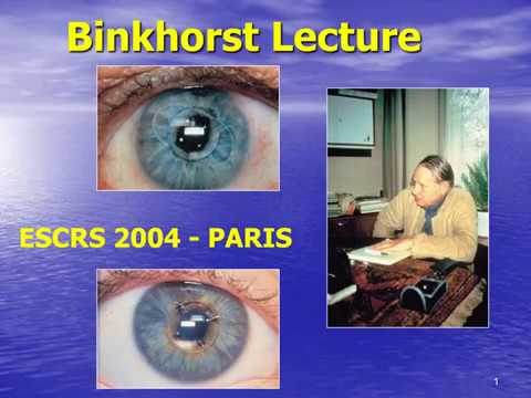 ESCRS 2004: Binkhorst Lecture: Evolution of phakic IOL. L. Buratto