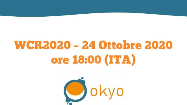 WCR2020 – 24 Ottobre 2020 ore 18:00 (ITA)