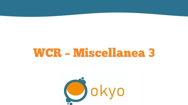 WCR – Miscellanea 3